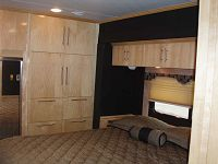 Numerous storage spaces, cabinets & drawers in Bedroom