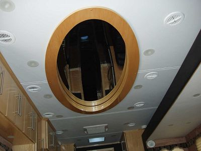 Ceiling mirror in Living Area